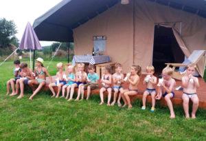 Safaritent met kinderen