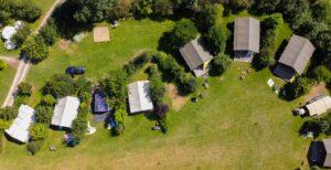 luchtfoto safaritenten